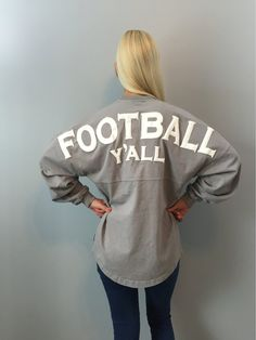 cbf8a2a9b8b0b0 Football Y'all Spirit Jersey in Gray – Southern Grace Outfitters