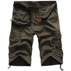 2016 Cargo Shorts Men Hot Sale Casual Camouflage Summer Brand Clothing Fashion Army Work Shorts Men Cotton 8 Color Plus Size Army Shorts, Military Shorts, Work Shorts, Men Shorts, Loose Shorts, Cropped Pants, Work Casual, Men Casual, Tactical Cargo Pants