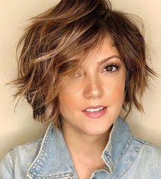 Shaggy Bob For Fine Hair bob hairstyles thin fine hair brown 100 Mind-Blowing Short Hairstyles for Fine Hair Short Shag Hairstyles, Short Layered Haircuts, Haircuts For Fine Hair, Short Shaggy Bob, Bobs For Fine Hair, Fine Hair Hairstyles, School Hairstyles, Prom Hairstyles, Layered Short Hair