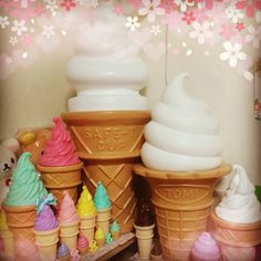 Kitsch ice cream cone collection