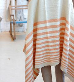 Just what we need for the summer: a cool linen throw. $220? Hm...