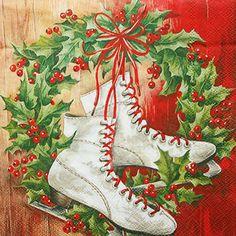 ペーパーナプキン(33)IHR:(5枚)クリスマススケート-IH172