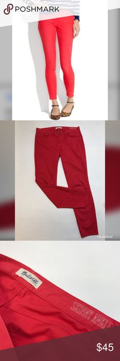"Madewell Skinny Ankle Pants 16.5"" Waist 9"" Rise  28"" Inseam  5"" Leg opening  Cotton Blend  Excellent used condition.  No trades/No models Madewell Pants Skinny"