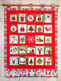 Kids advent calendar Christmas advent calendar by SarahSewsIt