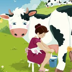 Milkmaid and her pail Teacher Hacks, Cow, Minnie Mouse, Disney Characters, Fictional Characters, Snow White, Family Guy, Disney Princess, Reading
