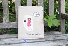 Cute diy journal for writing those random funny things kids say