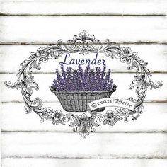 Victorian Frame Lavender Large A4 Instant Digital by CreatifBelle