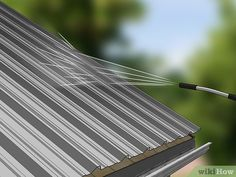 Metal Shed Roof, Metal Roof Paint, Metal Roof Houses, Metal Roof Colors, Tin Shed, House Roof, Metallic Paint, House Painting, Home Remodeling
