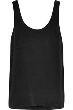 Kaylen washed-silk tank #offduty #covetme #equipment