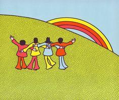 We Love You, Beatles: Vintage Childrens Illustration Circa 1971  