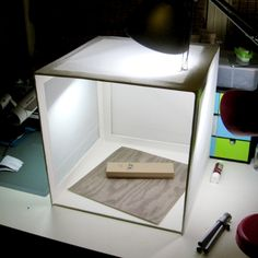 Handmade Lightbox Tutorial - use foam board & tracing paper  (easier than the cardboard box version I did before!)
