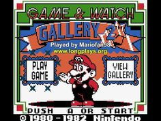 game and watch gallery 2 gba rom