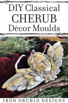 Check out this video on how to create your own classical Cherub using Iron Orchid Design's Decor Moulds. Make beautiful Christmas Gifts or Ornaments for your tree! Christmas Ornaments To Make, Christmas Projects, Christmas Diy, Iron Orchid Designs, Paper Clay, Air Dry Clay, Cherub, Beautiful Christmas, Diy Painting