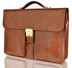 Genuine Leather Mens Briefcase Laptop Business Bag