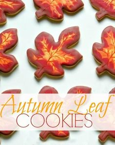 Autumn Leaves Cookies #Recipe #Cookies Perfect for Fall Festivals and Thanksgiving