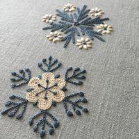 """985 Likes, 46 Comments - @bitte_206 on Instagram: """"* 『雪の花』始めてま〜す。 * 〈樋口愉美子のステッチ12か月〉より * クリスマス&年末年始出勤の代わりのせいか贅沢にも5連休をいただいています。 ならば始めちゃいましょう…"""""""
