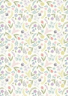 ETSY - GardenSongFabrics Swallows and Blooms by Lewis & Irene