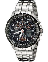 Citizen Skyhawk Homme 45mm Chronographe Solaire Date Montre JY0000-53E