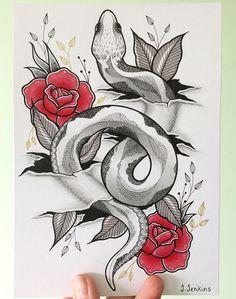 hand drawn art print of snake in ripped skin. Art Print on matte, white cartridge paper, 220 gsm. Snake Sketch, Snake Drawing, Snake Art, Tattoo Sketches, Tattoo Drawings, Body Art Tattoos, Art Sketches, Art Drawings, Animal Sketches