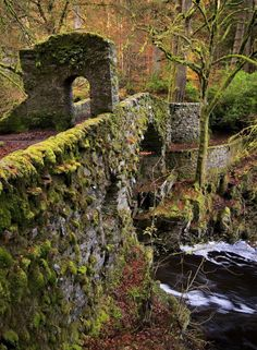 Your Sunday Moment of Peace:Old stone bridge over the River Braan. The River Braan (Scottish Gaelic: Breamhainn) is a tributary of the River Tay in Scotland. Within the county of Perth and Kinross, it flows 11 miles (17 km) eastwards from Loch Freuchie, near Amulree, and joins the River Tay near Dunkeld.
