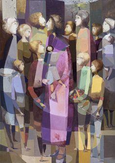 JUAN BATLLE PLANAS (1911-1966) La espera (1959) Oleo sobre tela, 111 x 75 cm.