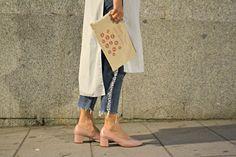 Jeans de flecos, zapatos de abuela y maxi camisa. MFShow Lab by Pandora. ~ Mi Vida en Rojo