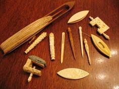 Antique Lot of Sewing Tools Bone Ivory Carved – Tatting Shuttles – Needle Case | eBay