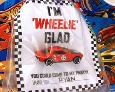 Get your little racer involved in the party planning and turn normal gift bags i. - Rev Up Your Party Planning - Super Car Pictures