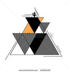 Colored minimalisticvector abstract background with triangle