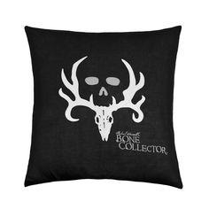Kimlor Bone Collector Black Square Pillow Black    Bed Planet   Bedplanet.com