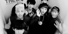 Bangtan Boys ~ And if you wait a bit you can see an alien popping up.