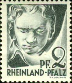 Beethoven Rheinland Pfalz stamp