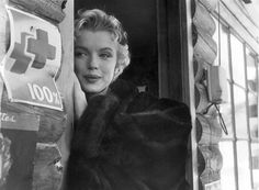 Marilyn on the set of Bus Stop