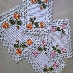 Resultado de imagem para jogo de cozinha croche
