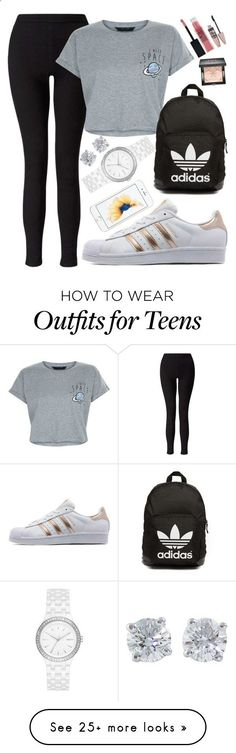 Cute Outfits BACK TO SCHOOL OUTFITS #1 by beautybyee on Polyvore featuring Miss Selfridge, New Look, adidas Originals, Tiffany & Co., DKNY, Maybelline, Givenchy and statementnecklaces