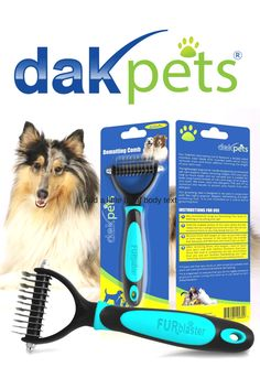 DakPets Dematting Comb With this tool, you can remove knots, tangles and mats from anywhere on your dog or cat without ever causing discomfort or harming the coat. Cat Hair, Large Animals, Cat Grooming, Medium Long, Dog Care, Birthday Wishes, Tangled, Your Dog, Rapunzel