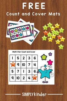 These FREE starry count and cover mats are an engaging counting activity for Kindergarten. They are perfect for math centers, early finishers, or homeschool! Early Finishers Kindergarten, Early Finishers Activities, Kindergarten Activities, Teaching Calendar, Third Grade Science, Classroom Displays, Classroom Ideas, Physics Classroom, Counting Activities