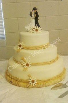 Cowboys and Angels wedding cake