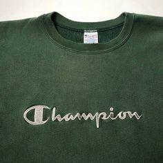 ffa704828b26 Vintage Champion embroidered script Reverse Weave crewneck
