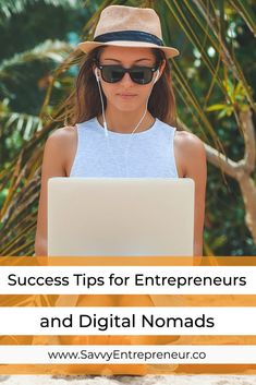 Success Tips for the Entrepreneur and Digital Nomad. Today, being an entrepreneur and digital nomad are almost synonymous. When you first get a business idea that you know is going to be perfect for you, you might be excited to get it up and running. Make Money Blogging, Make Money Online, How To Make Money, Business Tips, Business Women, Online Business, Business Coaching, Creative Business, Blog Logo