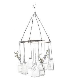 Look at this Wire Hanging Glass-Vase on #zulily today!