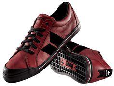 Macbeth Eliot Premium Red/black - wrinkled full grain leather