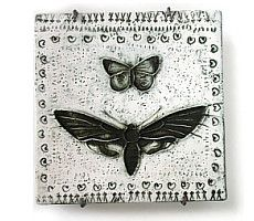 Black and white butterflies by Rut Bryk Art Corner, Treasure Hunting, White Butterfly, Sgraffito, Ceramic Artists, Plates On Wall, Finland, Scandinavian, Objects