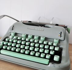 Mint and gray, vintage, cool...what's not to love about having this on the desk?
