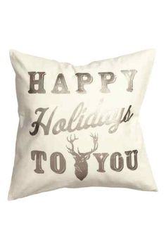 Cushion cover in woven organic cotton fabric with shimmering, printed Christmas motif at front. Solid-color backing, and concealed zip. H&m Christmas, Merry Little Christmas, Christmas Ideas, Xmas, Find Furniture, Home Decor Furniture, Living Room Accessories, H&m Home, H&m Online