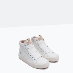 HIGH-TOP SNEAKERS WITH ZIP-View All-SHOES-GIRL | 4-14 years-KIDS | ZARA United Kingdom