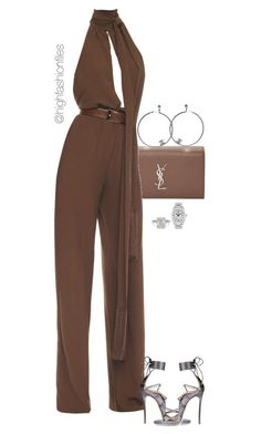 """""""Untitled #2765"""" by highfashionfiles on Polyvore featuring Yves Saint Laurent, Michael Kors, Chanel, Dsquared2 and Rolex"""