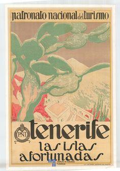 Tenerife, España. Las islas afortunadas #Spain #vintage #tourism