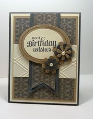 stampin up masculine cards pennants - Google Search
