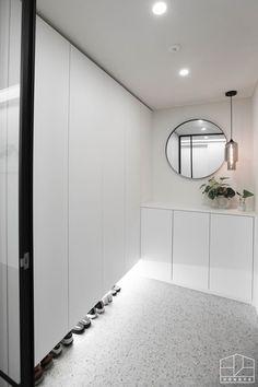 Office Cupboards, Entrance Hall, Downlights, Mudroom, Foyer, Shoe Rack, Kitchen Design, Wall Decor, Indoor